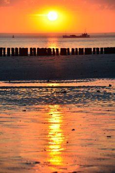 Refection on the beach (Zoutelande Zeeland)