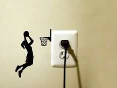 This Basketball player velvet / vinyl sticker can be applied to almost any surface such as walls, windows, and iPads. sizes (basketball player): H: cm) X W: cm) H: 6 cm) X W: cm) H: cm) X W: cm) H: 7 cm) X W: cm) - If you Basketball Bedroom, Basketball Gifts, Basketball Players, Wall Stickers Sports, Custom Stickers, Wall Painting Decor, Creative Wall Painting, Wall Art, Teen Room Decor