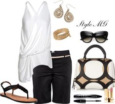 """Black and white"" by romigr99 on Polyvore"