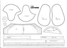 Carina,s Pysselsida: chaussures Converse: