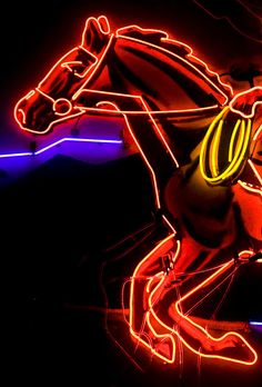 Neon Horse by kapay, via Flickr