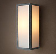 Union Filament Milk Glass Short Sconce - Weathered Zinc - these are interior and exterior