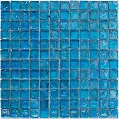Bayswater mosaic blue hammered glass 300x300