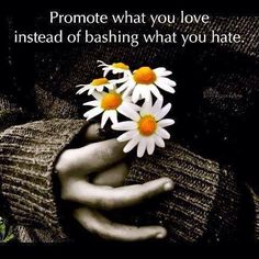 Promote what you love :-)