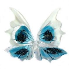 "Glass Butterflies Figurine    CODE: G3Y-157    Price: $18.50  Size 10x10 cm/4x4"" http://russian-crafts.com/glass-figurines/glass-butterfly/glass-butterflies-157.html"