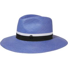 Maison Michel Henrietta grosgrain-trimmed straw fedora (€675) ❤ liked on  Polyvore featuring accessories 9989a3ae516c
