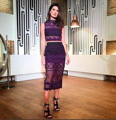 """Todo sábado, Isabella Fiorentino, ao lado do Arlindo Grund, apresenta o programa """"Esquadrão da Moda"""" e usa looks incríveis."""