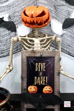 Are you looking for spooky Halloween party games that are fun for both kids and adults? Check out how to play and set up Dive or Dare! It's fun AND looks amazing at your party! Halloween Party Activities, Halloween Games Adults, Halloween Kids, Halloween Crafts, Happy Halloween, Halloween Parties, Creepy Carnival, Fall Games, Halloween Birthday