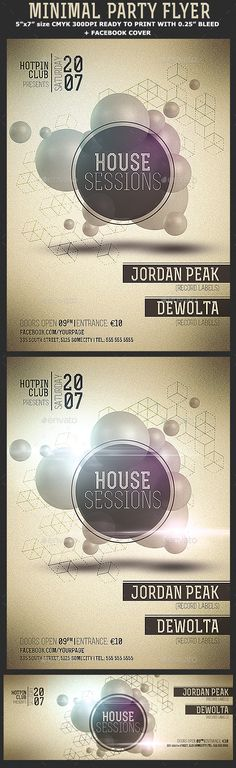 Minimal Party Flyer Template PSD