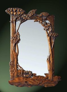 Is there a style more beautiful than Art Nouveau? Art Nouveau mirror and other fab things found here Design Art Nouveau, Walnut Mirror, Jugendstil Design, Bijoux Art Nouveau, Art Nouveau Furniture, Modernisme, Arts And Crafts Movement, Love Art, Wood Carving