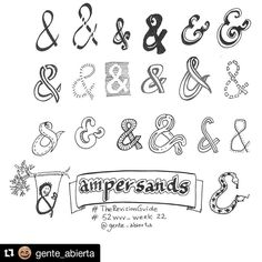 #Repost @gente_abierta with @repostapp ・・・ #therevisionguide_52wvv #52wvv_week22 Ampersands. I'm starting to feel like a designer 😜Thanks to @therevisionguide and Pinterest!!! 😘