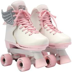 She'll love to move and groove in these Circle Society Classic Pink Vanilla girls' roller skates. Kids Roller Skates, Roller Skate Shoes, Roller Skating, Roller Derby, Vintage Roller Skates, White Roller Skates, Roller Rink, Pink Vanilla, Bright Summer Acrylic Nails