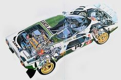 A small series production of the Lancia-badged New Stratos seems increasingly likely… Maserati, Ferrari, Cutaway, Vintage Racing, Vintage Cars, Mopar, Car Posters, Car Painting, Rally Car