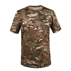 MIL-TEC ARMY CAMO T-SHIRT MILITARY TACTICAL HUNTING FISHING PAINTBALL COTTON TEE