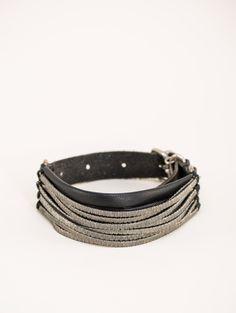 Goti Silver stripes bracelet $452.05