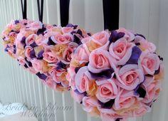 Pomander kissing balls wedding flower ball by BrideinBloomWeddings