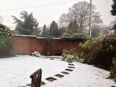 March 22nd 2013 - Typical British weather view from window on this SPRING day!!!!!! Bbrrrrrr from the East Midlands!