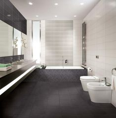 modern bathroom grey white - Google Search