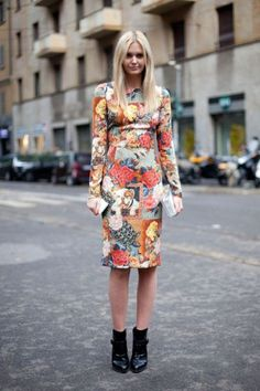 Toughen up a floral dress with a pair of ankle boots!