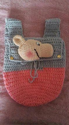 Bolso peppa a crochet