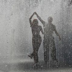A dance in the rain rain water outdoors couple dance wet