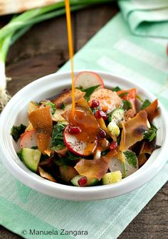 Fattoush with Sumac Dressing - subtracted the paprika from the dressing and it was amazing