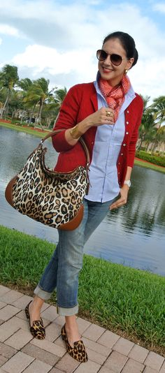 Susana Fernandez | A Key to the Armoire - animal print is not for me - I would trade for classic penny loafers and satchel bag