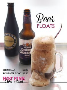 Beer Floats!! Best with a double chocolate stout, @ Hot Pink Cake Stand.  Food Photography by Angela Piccinin