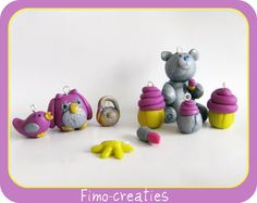 charms / polymer clay / fimo