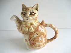 Fulham Pottery Glazed Studio SIX A Short CAT Teapot 1980 | eBay