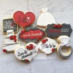 Wedding cookies ❤️ #weddingcookies #wedding #natsweets #sandiegobakery…