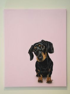 ARTFINDER: Candy Girl by Victoria Coleman - I just love dachshunds and this beautiful little girl is just like the dachshund I used to have when I was young. This particular girl has the most shiniest ...