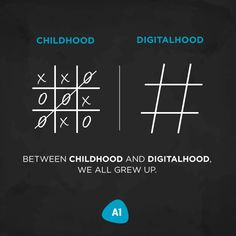 There is a thin line of difference between playing tic tac toe & trending through hashtags, called 'growing up'! Label Design, Graphic Design, Creative Design Agency, Tic Tac, Hashtags, A Team, Growing Up, Digital Marketing, Infographic