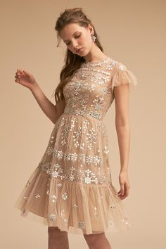 Heading to a formal event or black-tie wedding? Look no further than BHLDN for formal and semi-formal dresses to make a statement. Dusty Pink Bridesmaid Dresses, Tan Dresses, Dresses For Sale, Pretty Dresses, Bridesmaids, Short Dresses, Formal Dresses, What Is Cocktail Attire, Cocktail Outfit