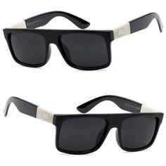 64392153f9 Locs Mens Biker Outdoor Fishing Flat Top Sunglasses W  Free Pouch - Black -  Lc92
