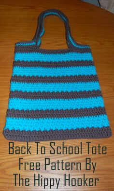 The Hippy Hooker: Super Simple Back To School Tote