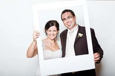 Don't know if we'll have any loose frames floating around for our photo booth, but if so, love the frame idea!