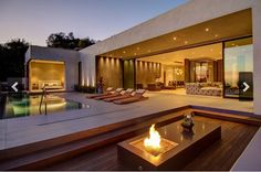 Luxury terraces: 10 outdoor design ideas with fireplace | The Most ...