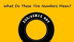 Cool explanation of what all those numbers on your tires actually mean