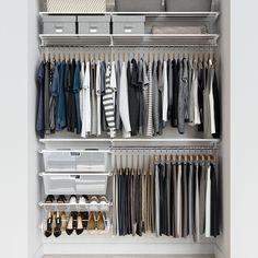 Closet Renovation, Closet Remodel, Closet Drawers, Closet Rod, Closet Wall, Entryway Closet, Container Store Closet, Elfa Shelving, Organizar Closet