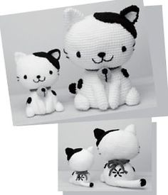 Amigurumi Cat - FREE Crochet Pattern / Tutorial (Chart) not in english haven't figured out how to get it translated Crochet Amigurumi, Amigurumi Patterns, Crochet Dolls, Knitting Patterns, Crochet Patterns, Knitting Toys, Amigurumi Doll, Cute Crochet, Crochet Crafts