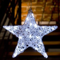 Konstsmide Christmas Acrylic Star with 24 White LED Lights. Beautifully…