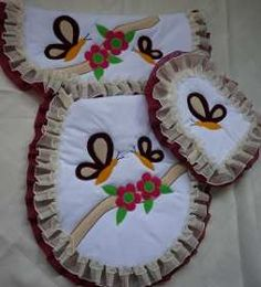 Bathroom Crafts, Bathroom Sets, Dress Sewing Patterns, Crochet Patterns, Fabric Decor, Free Crochet, Applique, Baby Shower, Quilts