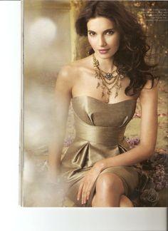 @k . Wilcox Gold bridesmaid dress.