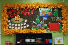 camping themed classroom  www.schoolgirlstyle.com