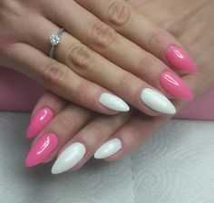 nice 25 Ideas on Pink and White Nails - Spring Inspiration for You