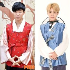#Jimin ❤️ in hanbok for chuseok: 2013 vs 2017