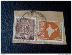 RARE 1965 INDIA 30P./2N.P HANDICRAFTS LETTRE STAMP ON PAPER COVER USED SEAL - India