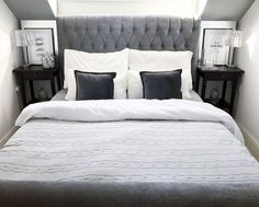 30 Modern Interior Design Ideas 10 Great Tips To Use . White And Beige Bedroom With Gray Grasscloth Wallpaper . Home and Family Bedroom Decor For Couples, Couple Bedroom, Small Room Bedroom, Bedroom Ideas, Small Rooms, Bedroom Inspo, Black And Grey Bedroom, Gray Bedroom, Master Bedroom