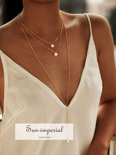 SheIn offers Round Pendant Layered Necklace Set & more to fit your fashionable needs. Cute Jewelry, Bridal Jewelry, Jewelry Accessories, Jewelry Design, Women Jewelry, Jewelry Trends, Gold Jewelry, Clean Jewelry, Jewelry Ideas